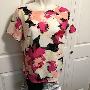 Ava & Viv abstract floral blouse sz.1X